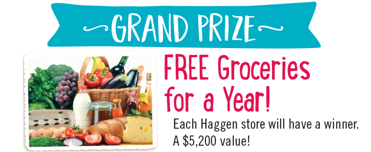 Grand Prize - Free Groceries for a Year